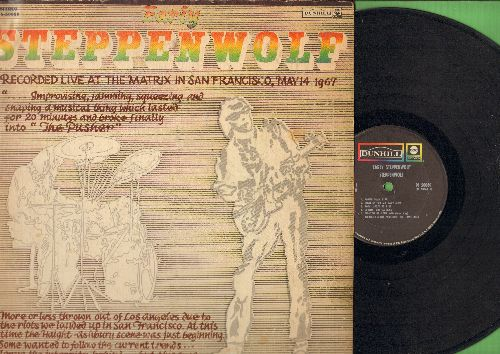 Steppenwolf - Early Steppenwolf: Corina Corina, Tighten Up Your Wig, The Pusher, Goin' Upstairs (vinyl STEREO LP record) - EX8/VG6 - LP Records