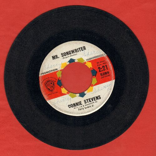 Stevens, Connie - Mr. Songwriter (Write Me A Song)/I Couldn't Say No (DJ advance pressing, wol) - VG6/ - 45 rpm Records