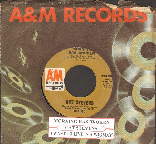 Stevens, Cat - Morning Has Broken/I Want To Live In A Wigwam (with juke box label and company sleeve) - NM9/ - 45 rpm Records