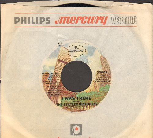 Statler Brothers - I Was There/Somebody New Will Be Coming Along (with company sleeve) - EX8/ - 45 rpm Records