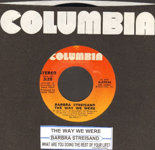 Streisand, Barbra - The Way We Were/What Are You Doing The Rest Of Yur Life? - NM9/ - 45 rpm Records