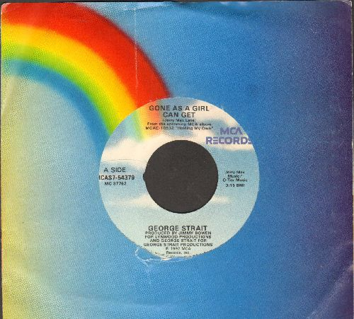 Strait, George - Gone As A Girl Can Get/Faults And All (with MCA company sleeve) - NM9/ - 45 rpm Records