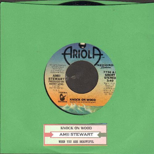 Stewart, Amii - Knock On Wood/When You Are Beautiful (with juke box label) - NM9/ - 45 rpm Records