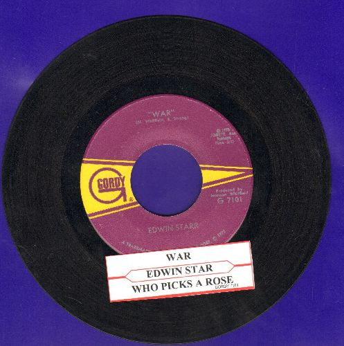 Starr, Edwin - War/He Who Picks A Rose (with juke box label) - EX8/ - 45 rpm Records