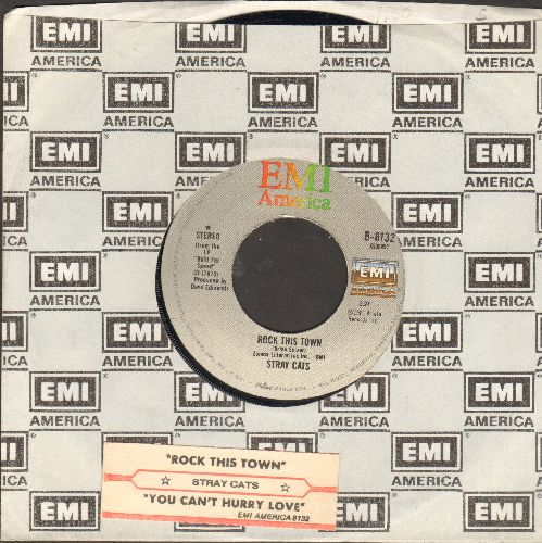 Stray Cats - Rock This Town/You Can't Hurry Love (with juke box label and EMI company sleeve) - EX8/ - 45 rpm Records