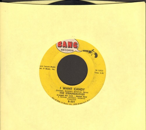 Strangeloves - I Want Candy/It's About My Baby  - VG7/ - 45 rpm Records