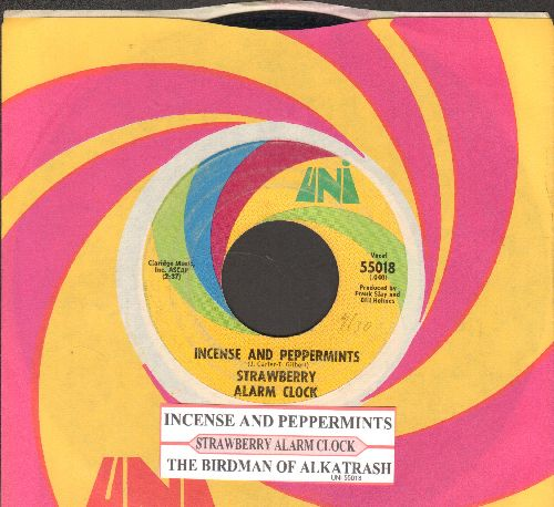 Strawberry Alarm Clock - Incense And Peppermints/The Birdman Of Alkatrash (with juke box label and Uni company sleeve) - EX8/ - 45 rpm Records
