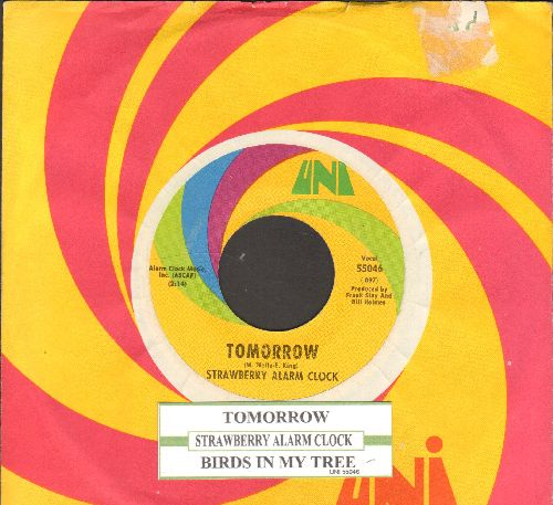 Strawberry Alarm Clock - Tomorrow/Birds In My Tree (with juke box label and Uni company sleeve)  - NM9/ - 45 rpm Records