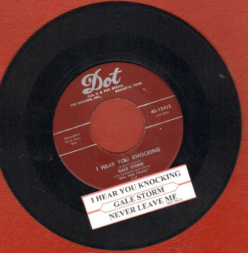 Storm, Gale - I Hear You Knocking/Never Leave Me (burgundy label first issue with juke box label) - VG7/ - 45 rpm Records