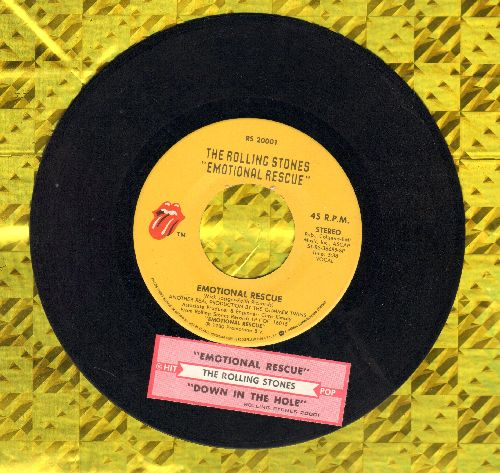 Rolling Stones - Emotional Rescue/Down In The Hole (with juke box label) - EX8/ - 45 rpm Records