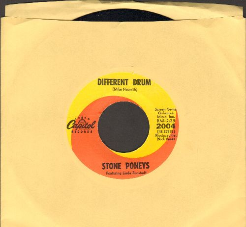 Ronstadt, Linda - Different Drum/I've Got To Know (billed as Stone Poneys Featuring Linda Ronstadt)  - NM9/ - 45 rpm Records