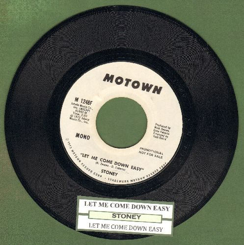 Stoney - Let Me Come Down Easy (double-A-sided DJ advance pressing with juke box label) - M10/ - 45 rpm Records