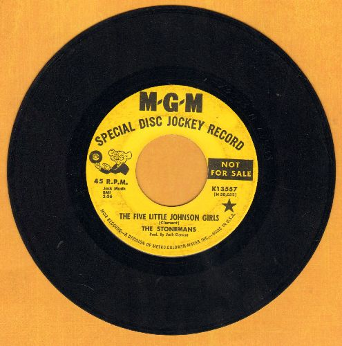Stonemans - The Five Little Johnson Girls/Goin' Back To Bowling Green (yellow label DJ advance pressing) - EX8/ - 45 rpm Records