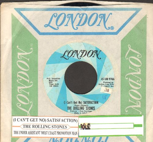 Rolling Stones - I Can't Get No Satisfaction/The Under Assistant West Coast Promotion Man (with vintage London company sleeve and juke box label) - EX8/ - 45 rpm Records