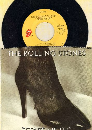 Rolling Stones - Start Me Up/No Use In Crying (with picture sleeve) - EX8/EX8 - 45 rpm Records