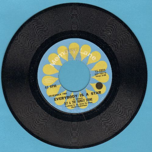 Sly & The Family Stone - Everybody Is A Star/Thank You (double-hit re-issue) - NM9/ - 45 rpm Records