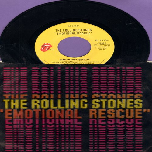 Rolling Stones - Emotional Rescue/Down In The Hole (with picture sleeve) - M10/VG7 - 45 rpm Records