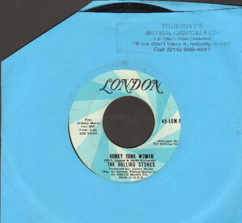 Rolling Stones - Honky Tonk Women/You Can't Always Get What You Want - VG7/ - 45 rpm Records