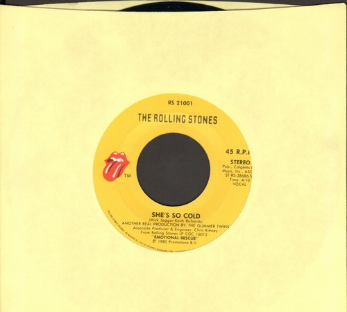 Rolling Stones - She's So Cold/Send It To Me  - VG7/ - 45 rpm Records