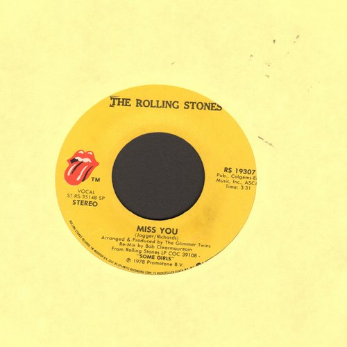Rolling Stones - Miss You/Far Away Eyes  - VG7/ - 45 rpm Records
