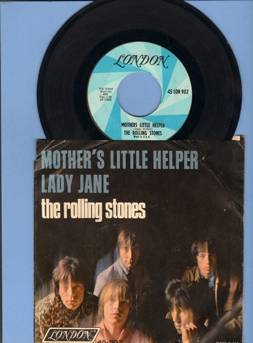 Rolling Stones - Mother's Little Helper/Lady Jane (with picture sleeve) - EX8/VG6 - 45 rpm Records