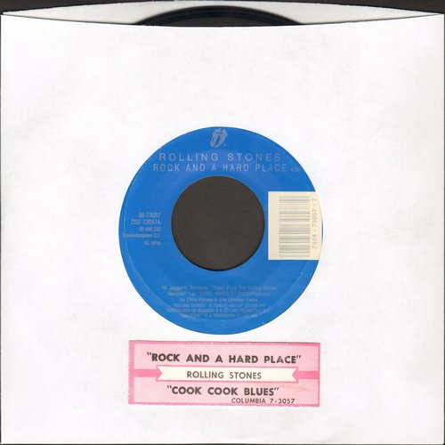 Rolling Stones - Rock And A Hard Place/Cook Cook Blues (with juke box label) - EX8/ - 45 rpm Records