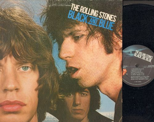 Rolling Stones - Black And Blue: Hot Stuff, Memory Motel, Crazy Mama (vinyl STEREO LP record, gate-fold cover) - NM9/EX8 - LP Records