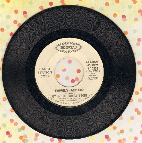 Sly & The Family Stone - Family AffairLuv 'N Haight (DJ advance pressing) - EX8/ - 45 rpm Records