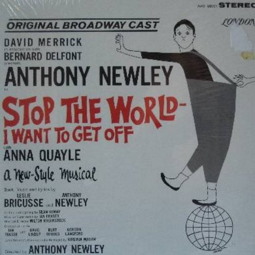 Newley, Anthony, Anna Quayle - Stop The World - I Want To Get Off: Original Broadway Cast (Vinyl STEREO LP record, gate-fold cover, SEALED, nev er opened!) - SEALED/SEALED - LP Records