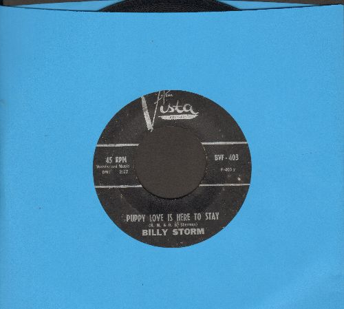Storm, Billy - Puppy Love Is Here To Stay (DEFINITIVE vintage Teen Idol Sound!)/Push Over - VG7/ - 45 rpm Records