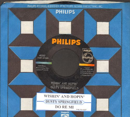 Springfield, Dusty - Wishin' And Hopin'/Do Re Mi (with juke box label and  Philips company sleeve) - NM9/ - 45 rpm Records