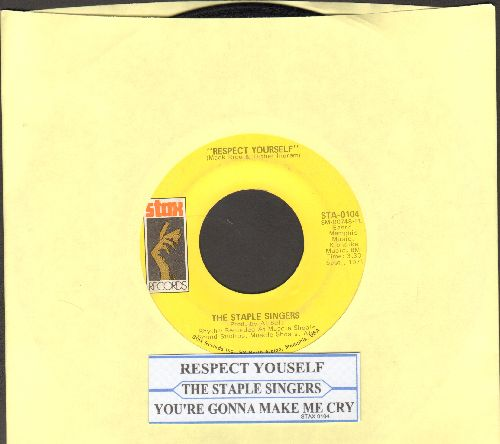Staple Singers - Respect Yourself/You're Gonna Make Me Cry (with juke box label) - VG7/ - 45 rpm Records