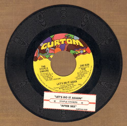 Staple Singers - Let's Do It Again/After Sex (with juke box label) - NM9/ - 45 rpm Records