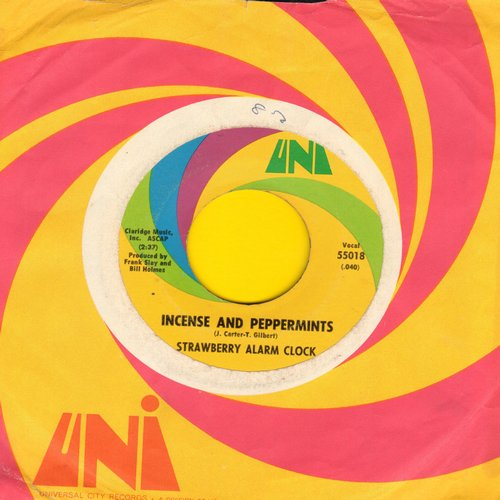 Strawberry Alarm Clock - Incense And Peppermints/The Birdman Of Alkatrash (with Uni company sleeve) - EX8/ - 45 rpm Records