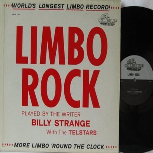 Strange, Billy & The Telstars - Limbo Rock - World's Longest Limbo Record! More Limbo 'Round The Clock (Vinyl MONO LP record) - EX8/EX8 - LP Records