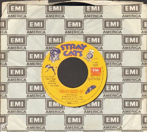 Stray Cats - Sexy + 17/Lookin' Better Every Beer (with EMI company sleeve) - EX8/ - 45 rpm Records