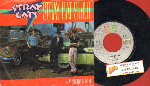 Stray Cats - Stary Cat Strut/You Don't Believe Me (with EMI company sleeve and juke box label) - NM9/VG7 - 45 rpm Records