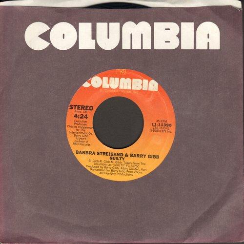 Streisand, Barbra & Barry Gibb - Guilty/Life Story - M10/ - 45 rpm Records