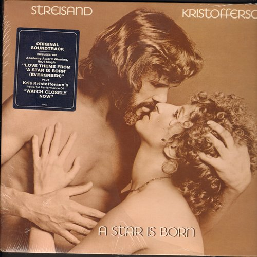 Streisand, Barbra, Kris Kristofferson - A Star Is Born: Includes Oscar Winning Best Song -Evergreen- (Vinyl STEREO LP record, gate-fold cover) - EX8/EX8 - LP Records