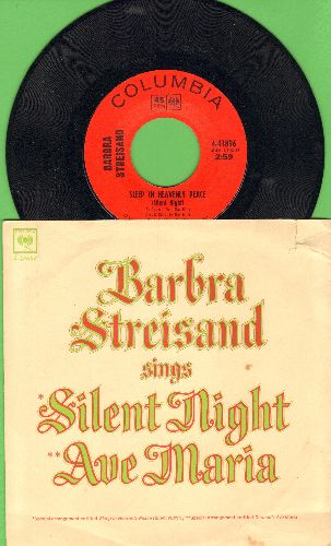 Streisand, Barbra - Sleep In Heavnely Peace (Silent Night)/Gounod's Ave Maria (with picture sleeve) - NM9/VG7 - 45 rpm Records