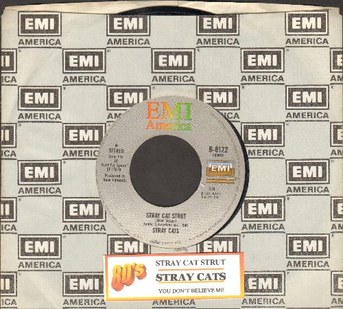 Stray Cats - Stary Cat Strut/You Don't Believe Me (with EMI company sleeve and juke box label) - NM9/ - 45 rpm Records
