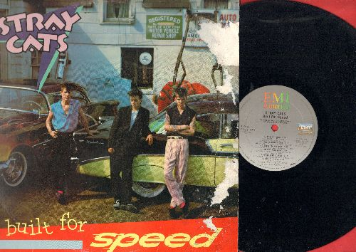 Stray Cats - Built For Speed: Rock This Town, Stray Cat Strut, Runaway Biys, Baby Blue Eyes (vinyl STTEREO LP record, cover damage) - NM9/G5 - LP Records