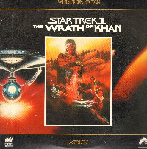 Star Trek II - Star Trek II - The Wrath Of Khan:  LASERDISC Starring William Shatner, Leonard Nimoy and Ricardo Montalban as Khan - NM9/EX8 - LaserDiscs