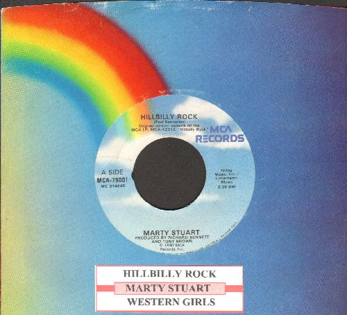Stuart, Marty - Hillbilly Rock/Western Girls (with MCA company sleeve and juke box label) - EX8/ - 45 rpm Records