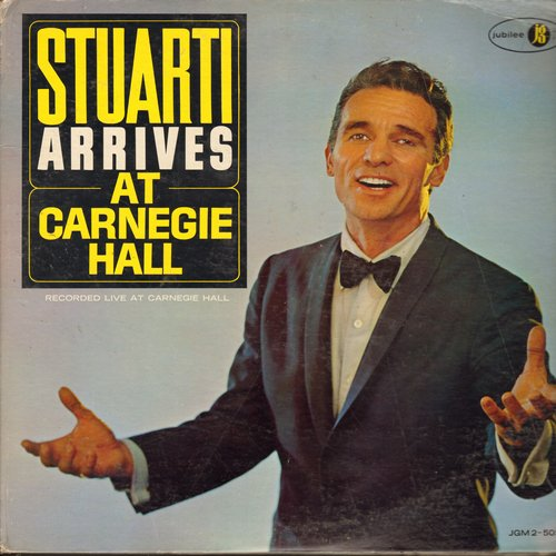Stuarti, Enzo - At Carnegie Hall: Come Prima, Gigi, September Song, Al Di La, Maria, The Sound Of Music, Smile (2 vinyl MONO LP record set, gate-fold cover) - NM9/VG7 - LP Records