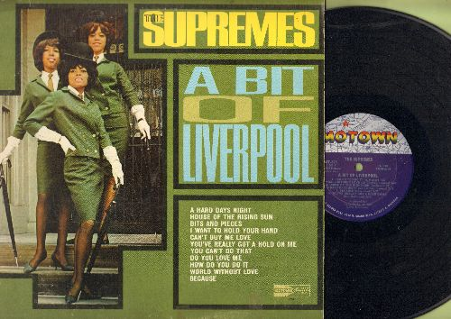Supremes - A Bit Of Liverpool: A Hard Days Night, House Of The Rising Sun, I Want To Hold Your Hand, Can't Buy Me Love, Do You Love Me, World Without Love (vinyl MONO LP record)(wol/woc) - EX8/EX8 - LP Records
