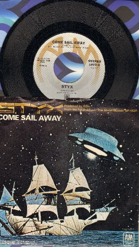 Styx - Come Sail Away/Put Me On (with picture sleeve) - NM9/EX8 - 45 rpm Records