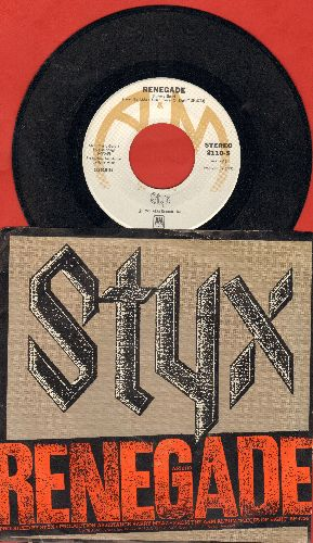 Styx - Renegade/Sing For The Day (with picture sleeve) - EX8/EX8 - 45 rpm Records