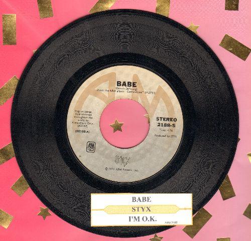 Styx - Babe/I'm O.K. (with juke box label) - EX8/ - 45 rpm Records