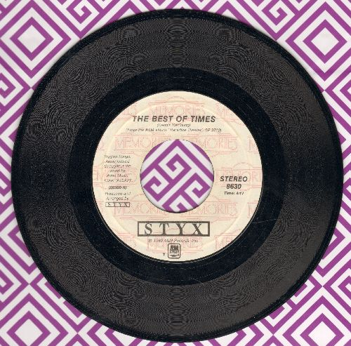 Styx - The Best Of Times/Too Much Time On My Hands (double-hit re-issue) - EX8/ - 45 rpm Records